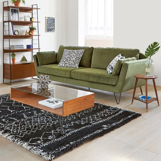 mesa baja con superficie de cristal watford with tapis couloir la redoute. Black Bedroom Furniture Sets. Home Design Ideas