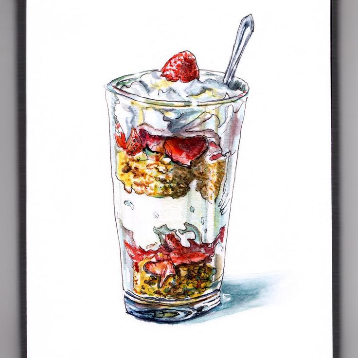 NESTED TREATS - #WorldWatercolorGroup  You've probably noticed by now if you've been following me as I doodlewash this month's challenge, that I'm practicing edibles while seeing what the prompts inspire for that. Today's prompt of nest, made me think of the nested treats in a yummy yogurt parfait, which is a lovely and light spring treat, so that's what I made for today. This is far healthier than many of my previous offerings, but looks perfectly decadent so it's really the best of both…