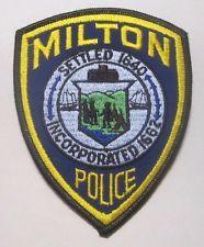 MILTON MASSACHUSETTS POLICE  PATCH