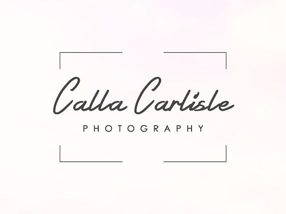Rectangle Frame Photography Logo  Instant by SoloBeeDesign on Etsy