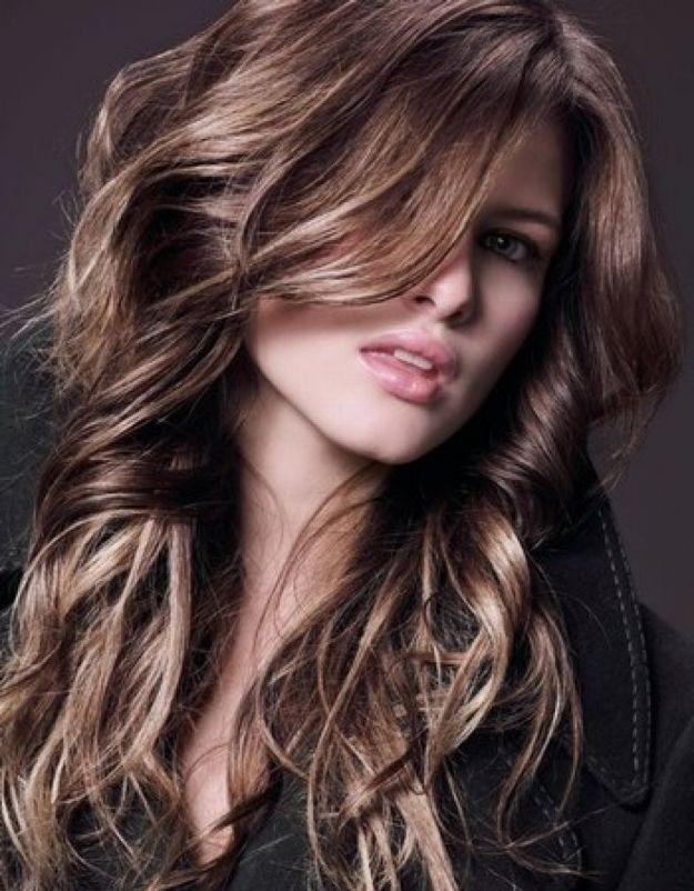 Мелирование на темные волосы белыми прядями ::: onelady.ru ::: #hair #hairs #hairstyle #hairstyles