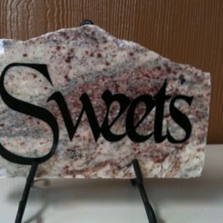 Granite pieces used as decorative display with any saying on them