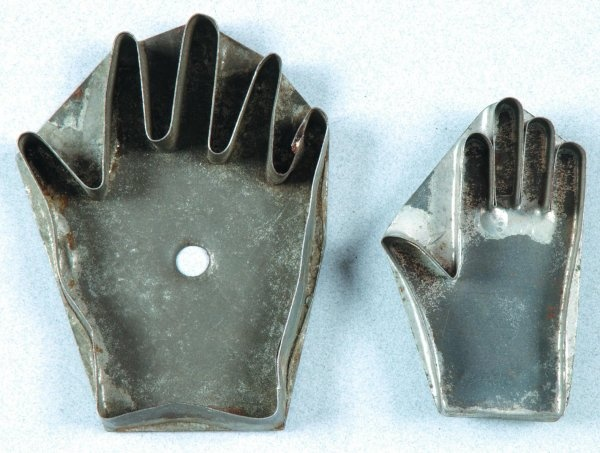 Two 19th Century Hand Form Tin Cookie Cutters