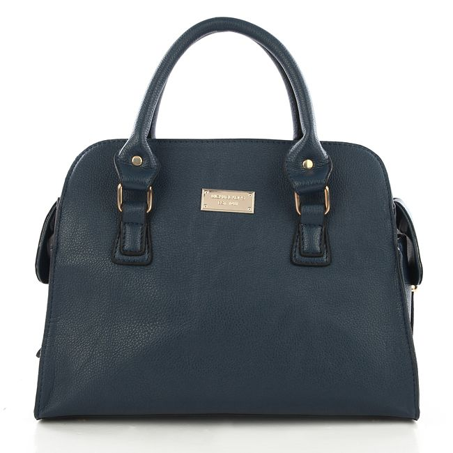 Michael Kors Gia Leather Large Navy Satchels only $72.99