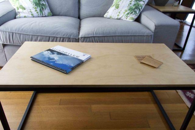 wod and metal table