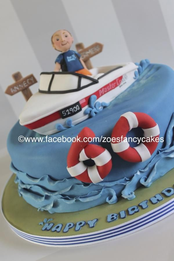 Boating cake - more at https://www.facebook.com/zoesfancycakes