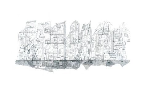 Ellie Compton: The Transparent Hotel New Zealand Artist that intertwines architecture and Narrative in complex hand drawings