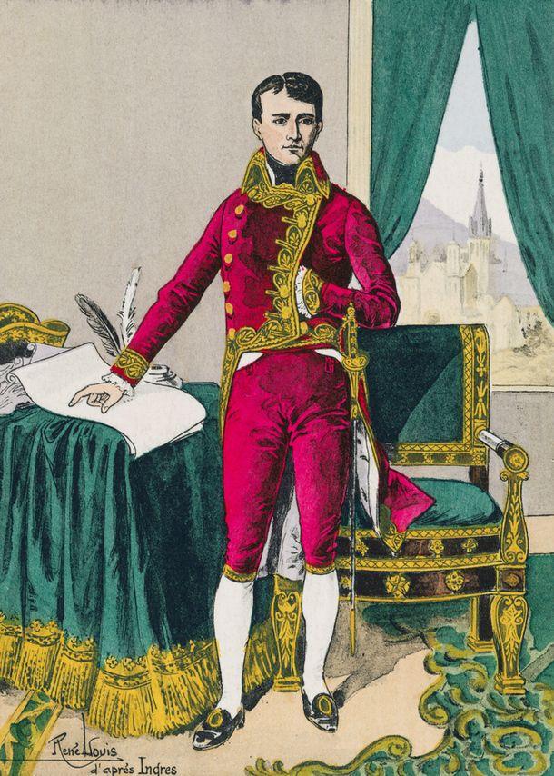 Наполеон Бонапарт в должности первого консула, акварель работы Жана Огюста Доминика Энгра.
