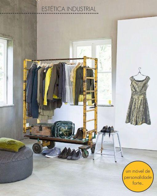 industrial decoration + closet