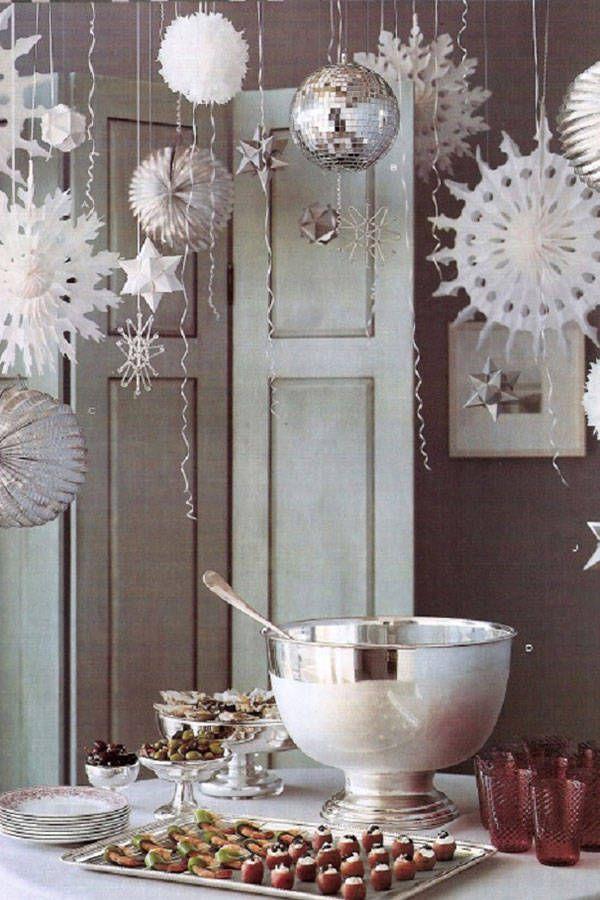 White on white decor makes for a chic, minimalist winter wonderland.    - HarpersBAZAAR.com