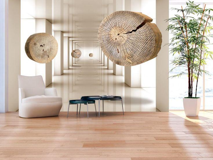 Fotomural 3D no es sólo la decoración interesante, pero también una manera de aumentar opticamente el espacio #fotomurales #3d #fotomurales3d #decoraciones3d