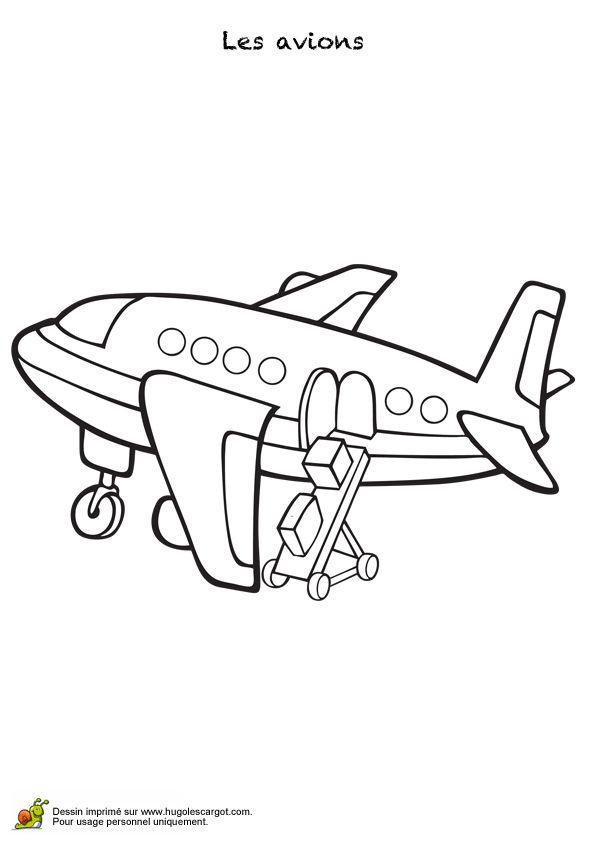 48 best images about coloriages d 39 avions on pinterest cartoon concorde and trains - Dessin d un avion ...