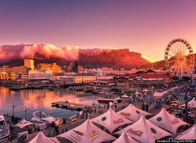 View from the Waterfront in Cape Town.