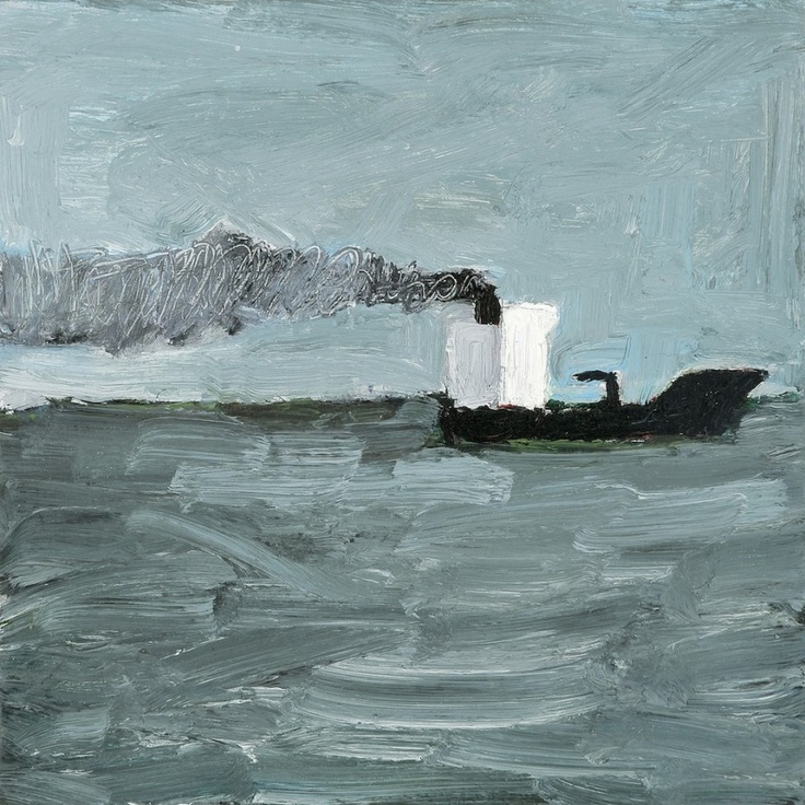 Heading Off, St Kilda, 2007  Artist: Julian Twigg  Medium: Oil on board  Dimensions: 28 x 28 cm