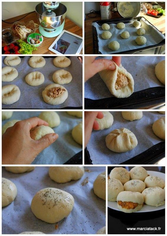 Echte Brötchen gefüllt, mit dem guten Geschmack von Brot, das Sie schnell süchtig machen wird Hier …