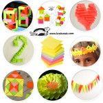 Eight sticky notes cool ideas, craft, children, elementary school, primary school, sunflower, knutselen, kinderen, basisschool, zonnebloem van memoblaadjes