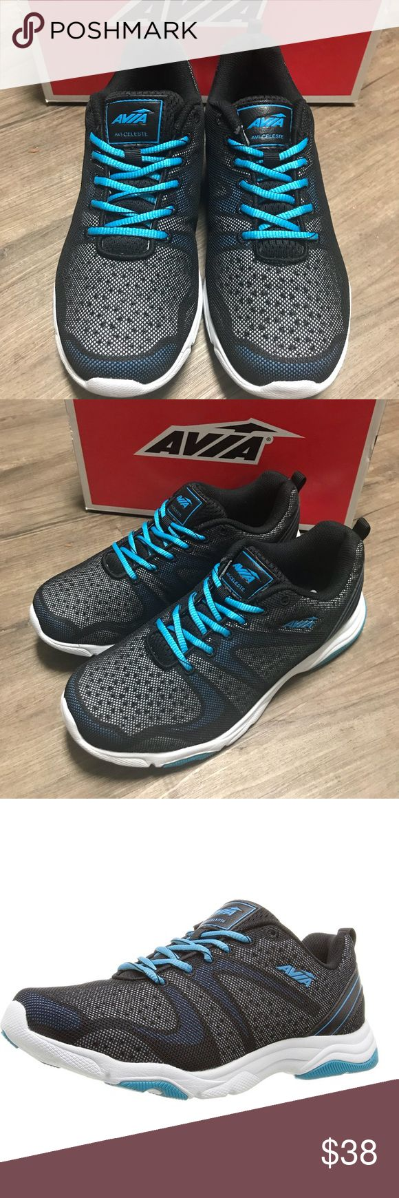 NWT Avia Crosstrainer Shoes ⚽️🏀⚾️🎾 Xmas present! NWT! This is my favorite brand of cross trainers because they are the most comfortable shoes for any type of sport you're into! Zumba? Tennis? Running? These are the shoes! With Gelfom that's a formulated foam sockliner. Very soft and versatile! Colors are: light blue, white, black and gray Avia Shoes Athletic Shoes