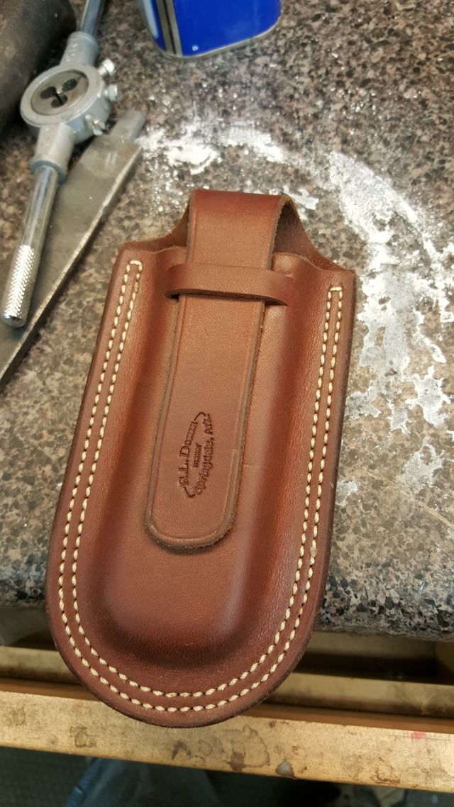 how to make a sheath with a folder knife in