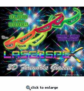 Plastic Rainbow Fireworks Glasses - LaserSpex