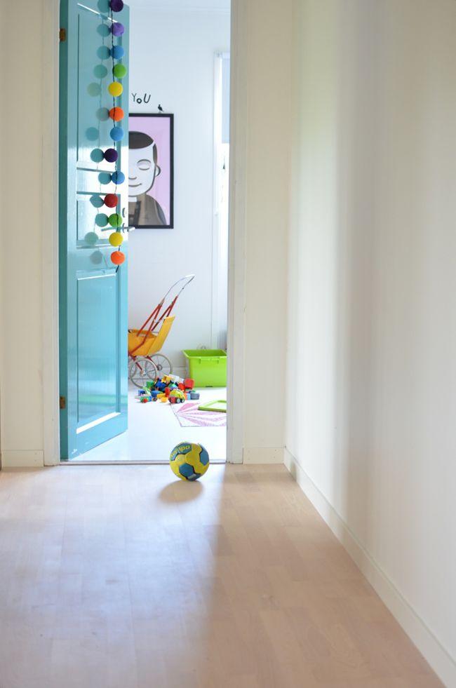Blue door to kids room