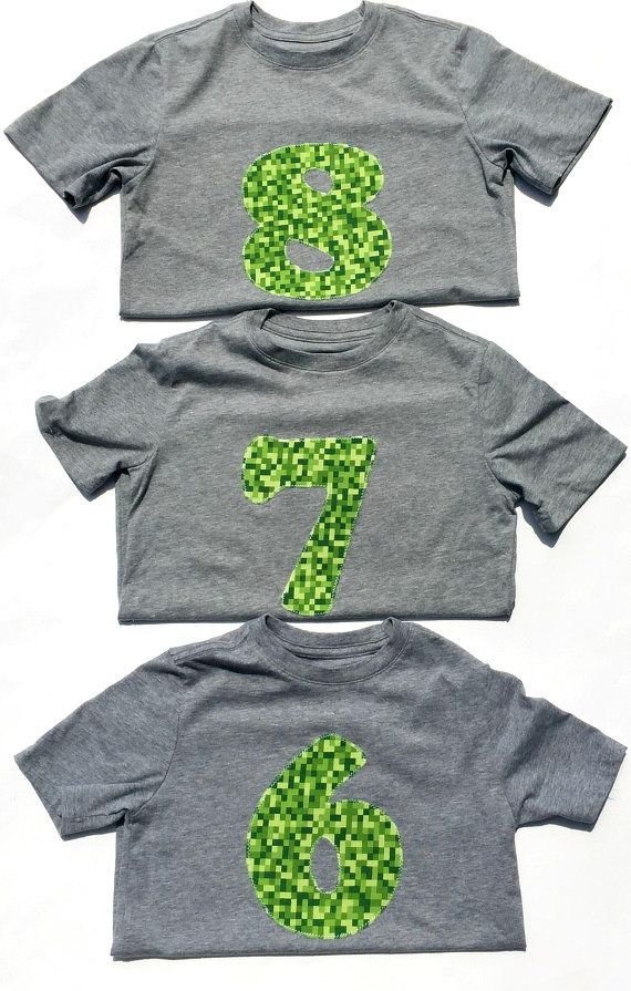 Gaming Shirt PartyMinecraft Inspired Birthday 6 7 8 Year Old 6th 7th 8th Boy READY TO SHIP By