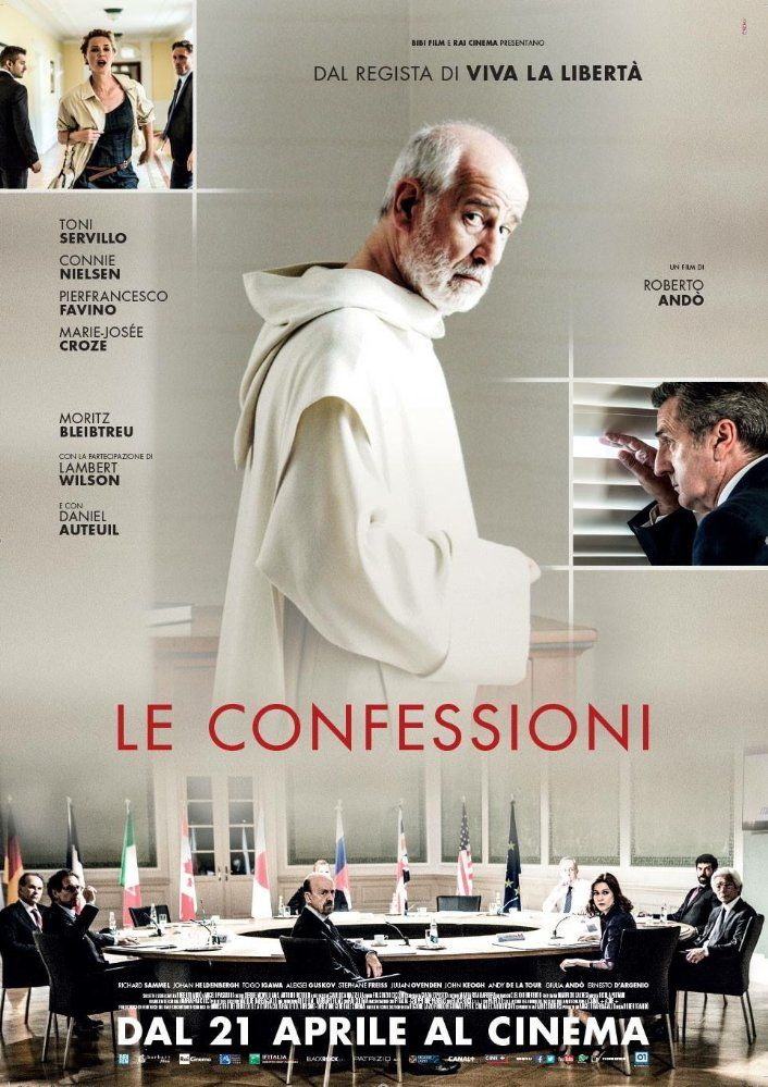 Directed by Roberto Andò.  With Toni Servillo, Daniel Auteuil, Pierfrancesco Favino, Moritz Bleibtreu. A G8 meeting is being held at a luxury hotel on the German coast. The world's most powerful economists are gathered to enact important provisions that will deeply influence the world economy. One of the guests is a mysterious Italian monk, invited by Daniel Rochè, the director of the International Monetary Fund. He wants the monk to receive his confession, that night, in secret. The next...