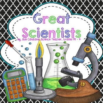 Here's a set of posters on George Washington Carver, Marie Curie, Albert Einstein, Rosalind Franklin, Louis Pasteur, and Jane Goodall. Writing/drawing page included.