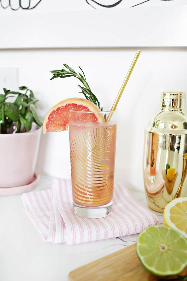 Grapefruit Citrus Sparkling Mocktail