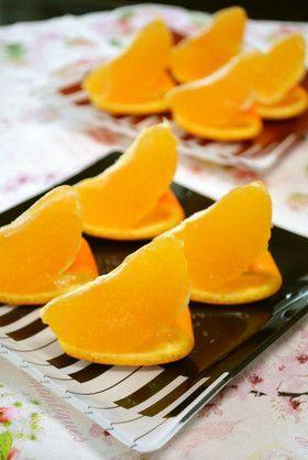 食べやすい♪オレンジ飾り切り♪♪