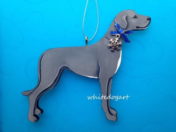 Uncropped Blue Great Dane Christmas Ornament Etsy Ornament