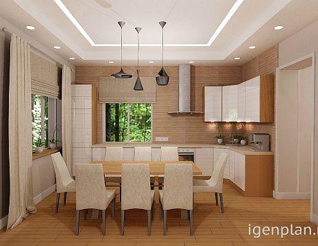 Кухня-гостиная в доме. Дизайн в #современном стиле от Юлии Павловой. http://igenplan.ru/interior/gostinye/proekt-doma3261/ Удобно, просторно, уютно.