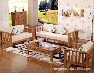 Wooden Sofa Set Furniture Living Room Design Rustic