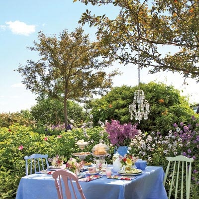 Want to make the mom's in your life feel special this Mother's Day? Throw an outdoor tea party in your own backyard.