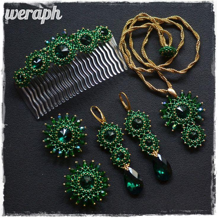 http://koralikowaweraph.blogspot.com/2014/05/szmaragd-i-zoto-projekt-slubny.html