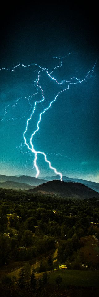 ✯ Summer thunderstorm striking Snowmass Colorado :: Photography by Thomas OBrien ✯