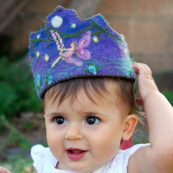 Wool Felt Crown, Waldorf Inspired, Birthday / Photo Prop / Dress up    -Swing Fairy on Etsy, $50.00