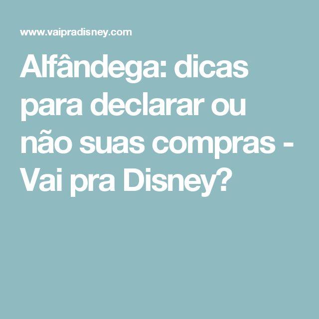Alfândega: dicas para declarar ou não suas compras - Vai pra Disney?
