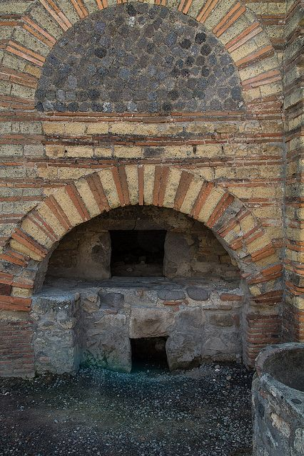 Pompeii - Wood Fired Roman Oven at a Bakery