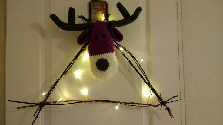 Rudolf reno corona Navidad