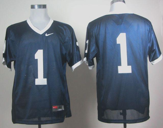 Men's NCAA Penn State Nittany Lions #1 Fan Navy Blue Jersey