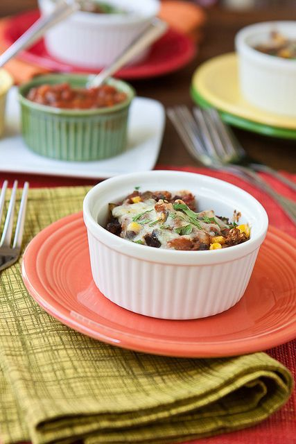 Mini Bean and Corn Tamale Pies by Back to the Cutting Board, via ...