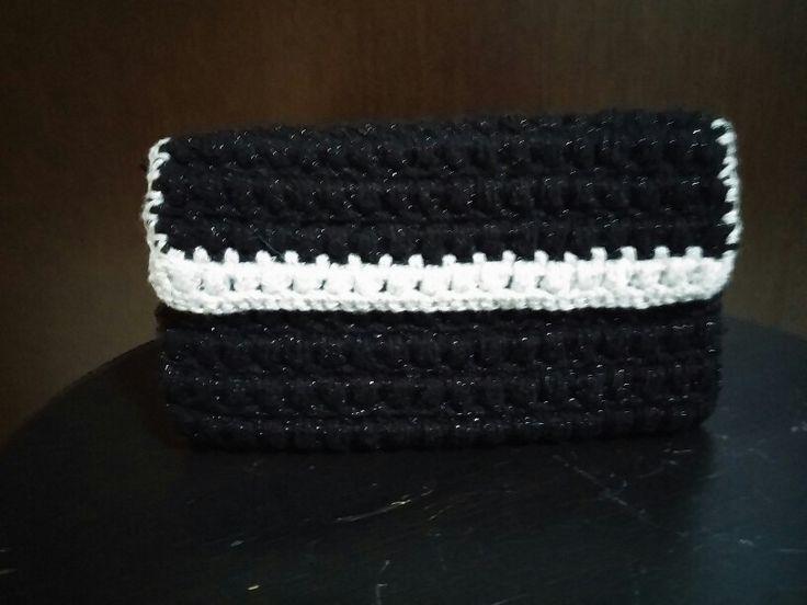 Crochet bag puff stitch