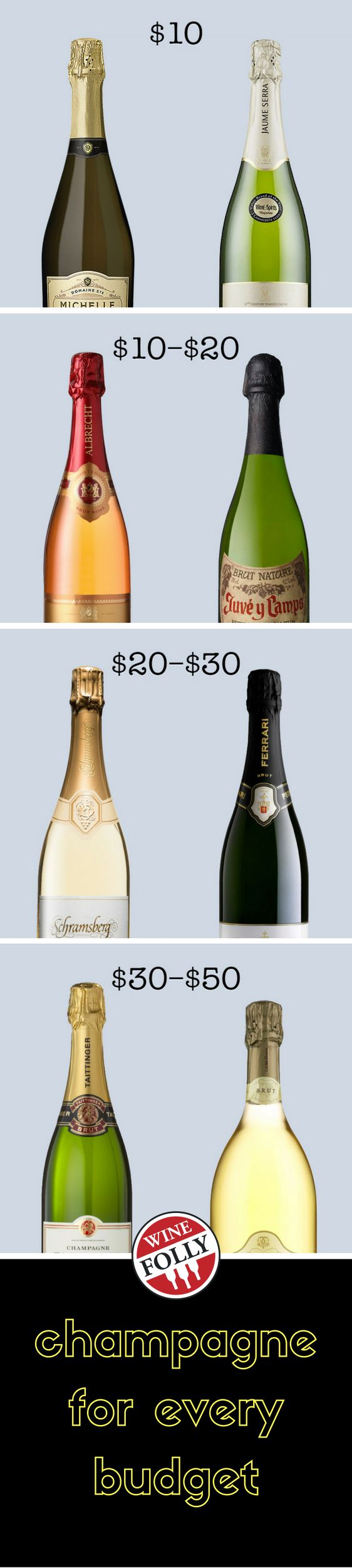 #TIPS | WHICH BUBBLES ARE FOR YOU? Champagne Types & Buying Advice on which type at Each Price Range! | Great Guide for those inexperienced buying Champagne! Need Champagne, but have No Clue where to start? Then this article is a MUST READ!! | WEB DIRECT URL:http://winefolly.com/tutorial/best-champagne-on-any-budget | ~~ http://www.Pinterest.com/bonnielbuchanan ~~ l #BuyingTips #champagne #NewYearTips #drinking #alcoholicbeverages #holidaytips #holidaytipsandtricks