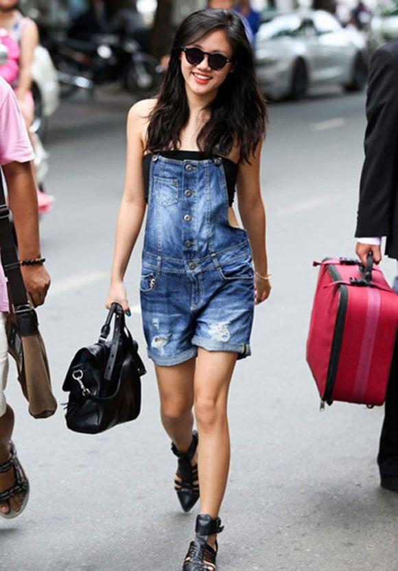 Mix quần yếm 'chất lừ' như fashionista