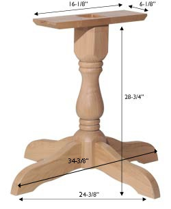 Large Traditional Pedestal Base--For redoing kitchen table.