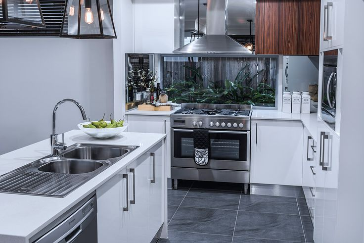 #Kitchen design ideas from #Ausbuild's Allendale #display #home. www.ausbuild.com.au. This #kitchen features a #stainless #steel #sink and #beautifully #tiled #flooring.