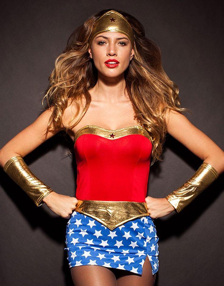 Wonder woman superhero costume-5436
