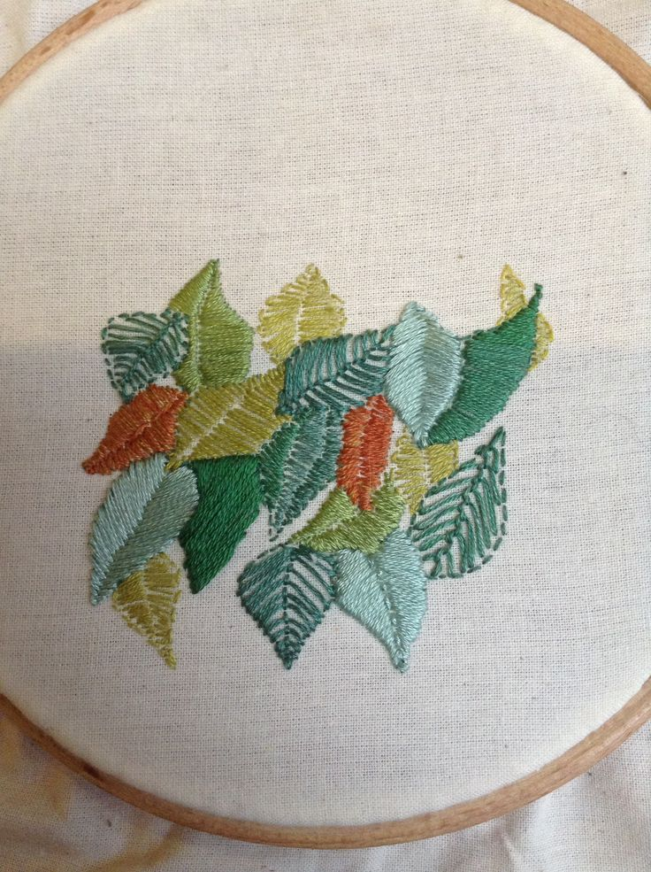 Leaf project - medium embroidery