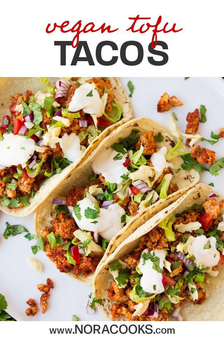 Vegan Tacos With Tofu In 2020 Vegan Tacos Tofu Recipes Vegan Mexican Recipes