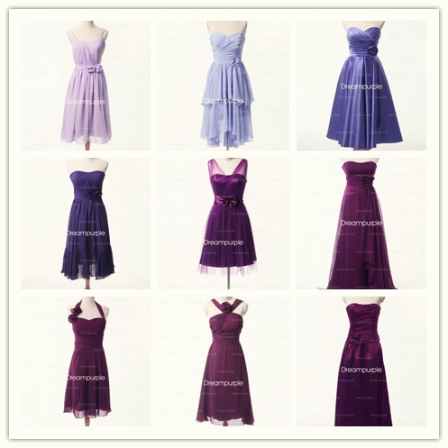 Purple Bridesmaid Dresses All From Www Dreampurple Co Uk
